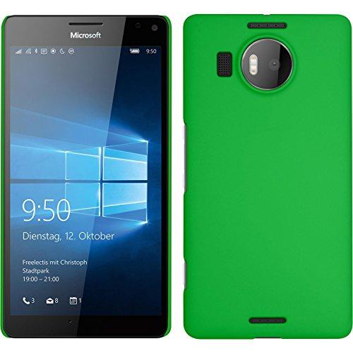 PhoneNatic Case für Microsoft Lumia 950 XL Hülle grün gummiert Hard-case für Lumia 950 XL + 2 Schutzfolien