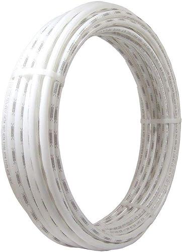 SharkBite U870W100 PEX Pipe 3/4 Inch, White, Flexible Water Pipe Tubing, Potable Water, Push-to-Connect Plumbing Fitt...