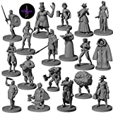 18 Miniatures Townsfolk Hero for DND Miniatures Bulk 28mm & Dungeons and Dragons Miniatures   for DND Minis and D&D Miniatures Fan and Fantasy Miniatures I Campaign Setting & Quests
