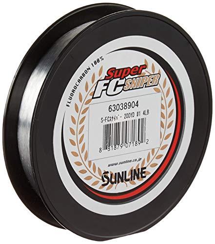 Sunline Super FC Sniper - Sedal de Pesca de fluorocarbono, Unisex Adulto, 63038908, Transparente Natural, 6-Pounds 200-Yards
