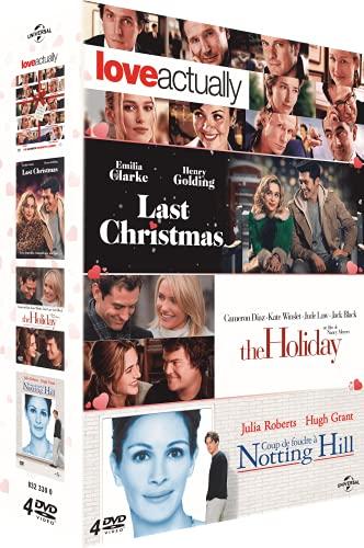 Coffret comédies romantiques : Love Actually + Coup de Foudre à Notting Hill + Last Christmas + The Holiday