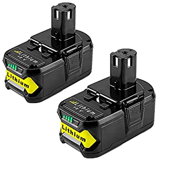 2Pack P108 6.0Ah Li-ion Compatible with Ryobi 18V Battery P104 P105 P102 P103 P107