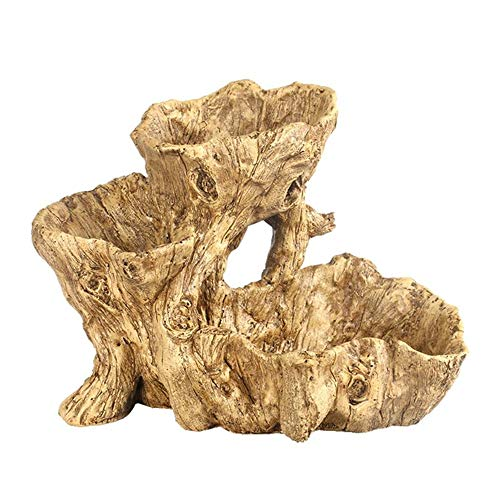 GYJ Creatieve Bloempot Succulente Planten, Kunstmatige Driftwood Planter Grote Hars Onregelmatige Rustieke Decoratieve Bloempot, Met Gaten Home Decoratie