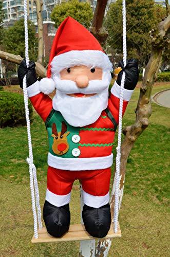OUYAWEI Home 60cm Klimtouw Ladder Swing Kerstman Kerstmis Decoratie Hanger Ornament Pop Speelgoed