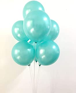 12Inch Quality Latex Balloon Party Decoration for Birthday and Events Celebration (Tiffany Blue)
