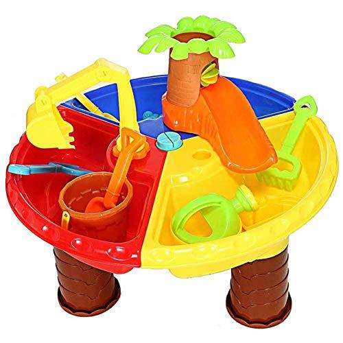 LIUCHANG Juego de Arena y Agua Juego de Mesa de plástico for niños al Aire Libre Juguetes de Playa con Tipos for niños niñas liuchang20