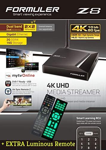 FORMULER Z8 Android Dual Band 5G Gigabit LAN 2GB RAM 16GB ROM 4K + Extra luminoso remoto