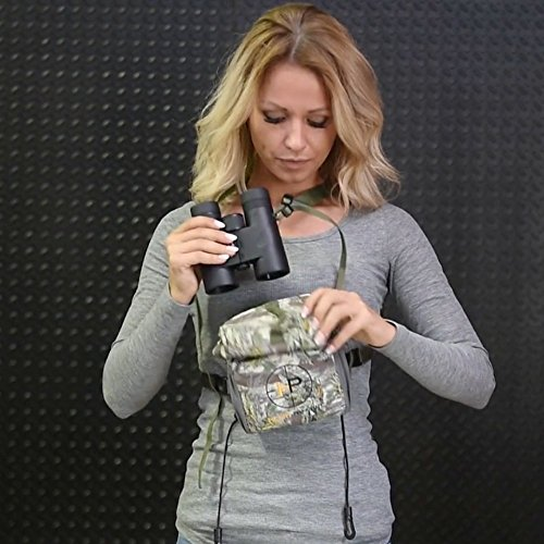 Henry Pahvant - Best Binocular Harness Case for Birding Or Hunting. Bounce Free Detachable System, Comfortable, Lightweight and Can Be Used with Vortex, Leupold, Nikon, Swarovski, Bushnell and More.