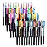 Bisofice Bolígrafos de Gel de 48 Colores Incluye Glitter/Neon/Gouache/Metal Plumas para marcar, destacar,dibujar y colorear