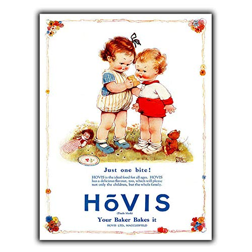 PotteLove Hovis Bread Vintage Old Advert Metal Wall Sign Plaque Kitchen 1930s