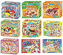 Kracie Popin Cookin 9 Item Bundle with Sushi, Hamburger, Bento, Donuts, Cake Shop and More