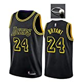 Camiseta de Baloncesto Kobe Bryant para Hombre, Lakers # 8# 24 Black Mamba Conmemorative Edition Mesh Swingman Jersey, Top sin Mangas con Chaleco Deportivo, No te Pierdas-Black B-L