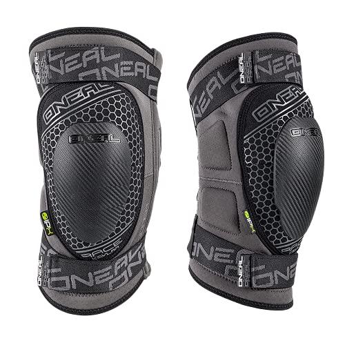 O\'NEAL | Knieprotektor | Motocross Enduro MTB BMX | Flexibler Reißverschluss, IPX®-Protektorfür starken Schutz, Atmungsaktives Material | Sinner Race Kevlar Knee Guard | Erwachsene | Grau | Größe L