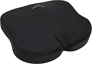 SubClap Seat Cushion for Office Desk Chair - Memory Foam Pillow Cushion for Sciatica, Hip, Back Pain Relief, Non-Slip Tail...