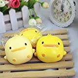 Bluelans Slow Rising Squishies Squeeze Toys,Cute Cartoon Round Duck Squeeze Toy Stress Relive Handbag Keychain Decor Gift Xmas Gifts Christmas Party Favor Party Bag Stocking Fillers