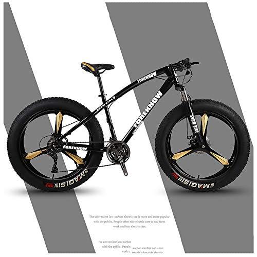 LDLL Bicicletas de montaña Ruedas Anchas 26 Pulgadas Llantas, Fat Tire MTB Disco de Freno Marco de Acero de Alto Carbono