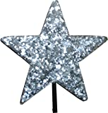 Aerialballs Silver Glitter Star Car Aerial Ball Antenna Topper OR Dashboard Wobbler! (one P&P charge no matter...