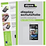 dipos I 2X Schutzfolie matt kompatibel mit HTC Desire 816 Folie Bildschirmschutzfolie