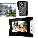 7' LCD TFT Moniteur Interphone Vidéo Visiophone Sonnette pour Sécurité Maison Pouces Sonnette de Porte Interphone portier...