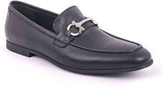 Men's Leather Buckle Shoes 56-43885 Classic Monk Costume Shoes