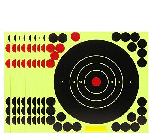LKHF 10 unids/Lote Splash Flower Target 8 Pulgadas Adhesivo reactividad Objetivo Objetivo para Pistola Rifle Pistola Carpetas