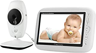 Baby Monitor with Camera and Sensor Pad Automatic Infrared Night Vision 1280 * 720 Resolution Two-Way Audio Communication ...