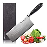 """Best Chinese Chefs Knives - Damascus Cleaver Knife, 7.2"""" Stainless Steel Chinese Chef Review"""