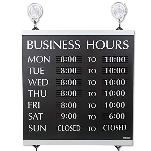 USS4247 - Century Series Business Hours Sign