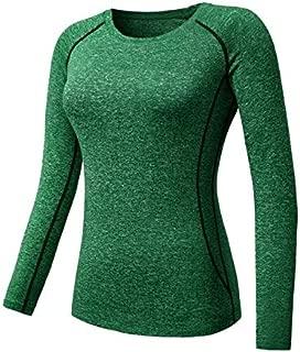 BEESCLOVER Women Sport Running Fitness Yoga Tops Tees Quick Dry Long Sleeve Slim Fit Female T-Shirt