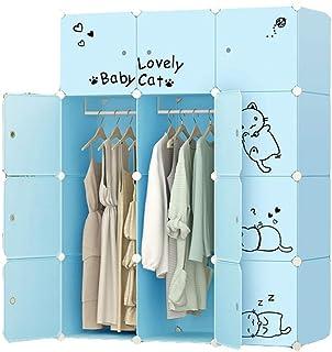 Garde-Robe Simple Beau Chat Bleu Conception Armoire Vêtements Bricolage Placard Combinaison Garde-robe De Vêtements Et De ...