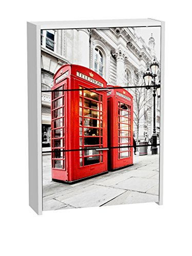 Suarez H346–25lon Londres Zapatero melamina Blanco 80x 24,2x 115cm