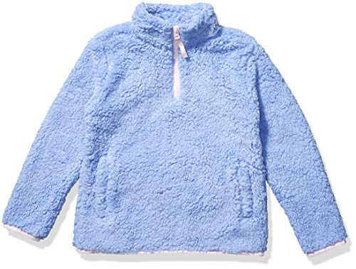 Amazon Essentials Girls' Sherpa Fleece Quarter-Zip Jackets, Cool Purple, XX-Large