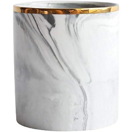 Make-up Pinselhalter Nordic Desktop Marmor Lagertank Keramik Kosmetik Pinsel Stifthalter Geschirr Aufbewahrungshalter f/ür Home Office K/üche