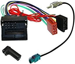 Aerzetix - ISO adattatore cavi per autoradio e adattatore per cavo antenna.