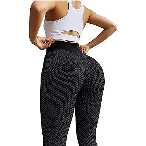 JSSJ 2021 Women Sport Yoga Pants Sexy Tight Leggings, Sexy Shark Scales High Waist Leggings High Waist Yoga Pants (Black, M)