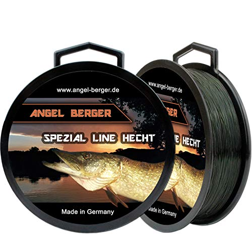 Angel-Berger Spezial Line Angelschnur Zielfischschnur Aal, Forelle, Hecht, Zander, Karpfen, Dorsch, Weissfisch (Hecht, 0,30mm / 7,80Kg)