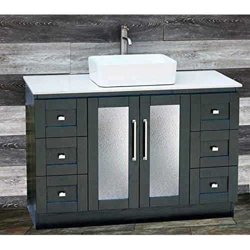 Solid Wood Bathroom Vanities Amazon Com