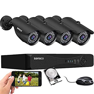 SANSCO Home Security Cameras System