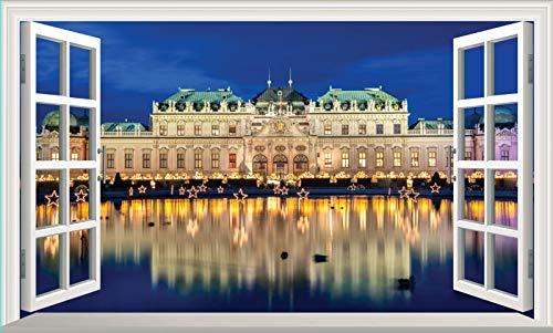 Chicbanners Vienna Belvedere Palace 3D V101 - Adhesivo decorativo para pared (1000 mm de ancho x 600 mm de profundidad)