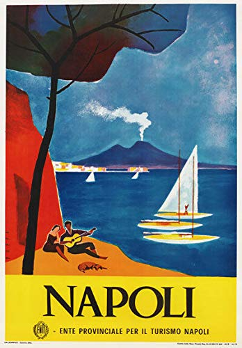 AMELIA SHARPE Vintage Retro Collectible tin Sign -Naples Italy Tour in The 1960s-Wall Decoration 12x8 inch Poster Home bar Restaurant Garage Cafe Art Metal Sign Gift