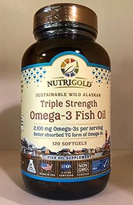 Triple Strength Omega3 Fish Oil 2,100 MG (120 Softgels)