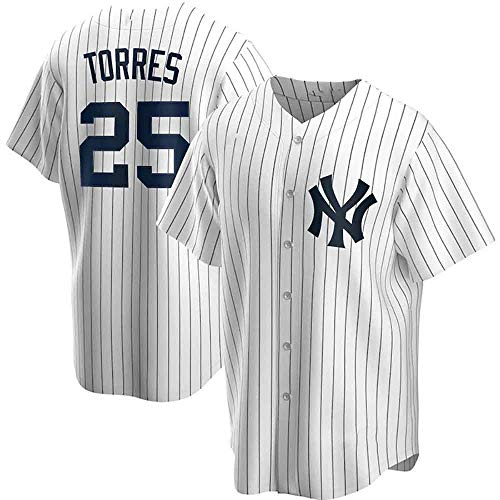 GMRZ MLB T-Shirt Herren, Baseball Trikot Mit New York Yankees # 45# 25 Logo Design Major League Baseball Team Sportbekleidung Fans Jersey Bestickte Shirt Kurzarm Unisex,D,XXL