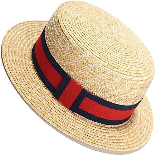DXQDXQ Unisex Sombrero de Paja Mujer Sombrero de Playa Soft Respirable Outdoor Vacaciones Casual Beach Sun Cap 50+ Protección UV Accesorios de Moda Gunslinger (Color : C)