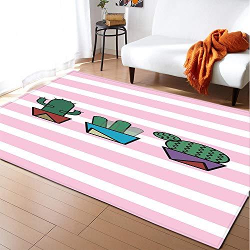 Alfombras Salon Grandes 60x90cm Rosa Verde Patrón Diseño Moderno Alfombras Mullida Tacto Suave Antideslizante Lavable Que no se Desprende Aplicar para Dormitorio Cocina Pasillo Habitacion Rugs