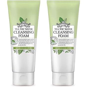 TeaToc Green Tea Water Cleansing Foam   Hypoallergenic Moisturizing Korean Cleansing Foam (2 pack)