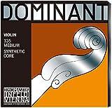 Thomastik Corde per Violino Dominant nucleo di nylon, set 4/4 medium, Mi in acciaio rivest...