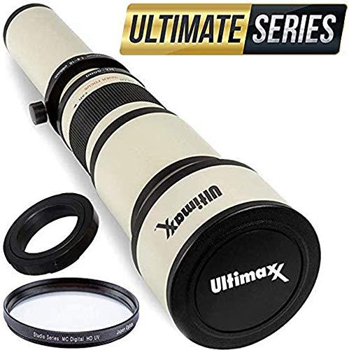 Ultimaxx 650-1300mm Telephoto Zoom Lens Set for Nikon D7500, D500, D600, D610, D700, D750, D800, D810, D850, D3100, D3200, D3300, D3400, D5100, D5200, D5300, D5500