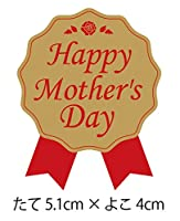 母の日シール(300枚入)(リボン型・赤)【k-036】「Happy Mother's Day」