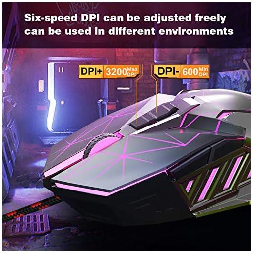 Teclado para Juegos RGB Juego de Teclado y Mouse para Juegos Retroiluminación LED RGB Optimamente Programable para PC… 5