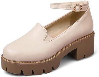 BalaMasa Womens Dress Solid Soft-Toe Urethane Pumps Shoes APL10553
